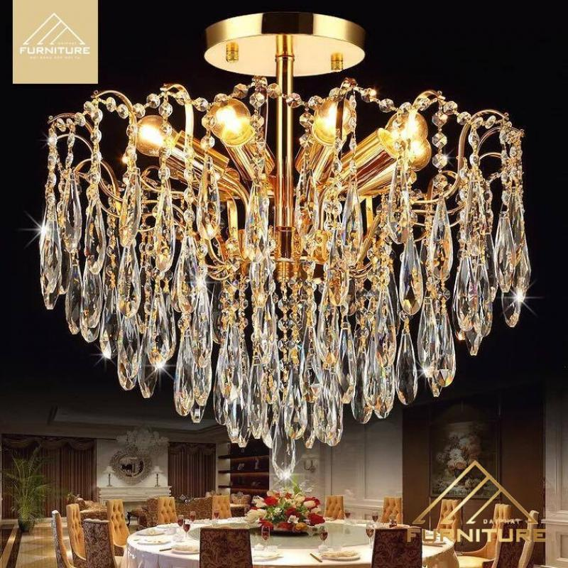 Giá các loại đèn chùm pha lê trang trí phòng khách hiện đại đẹp tại tphcm