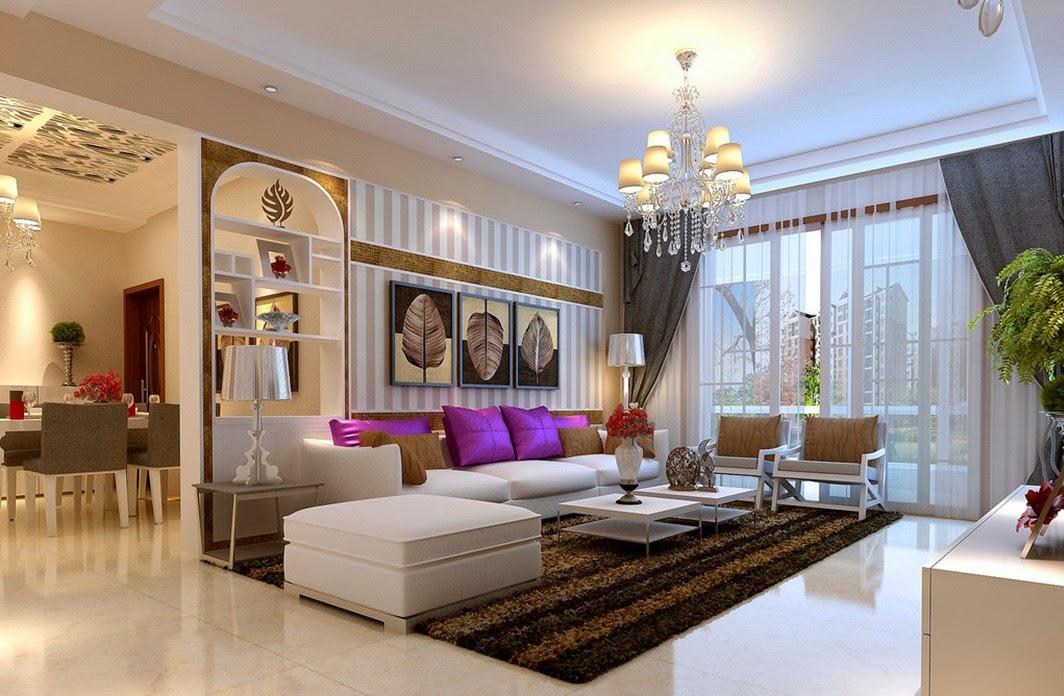 Cách phối đèn thả trần trang trí phòng khách chung cư