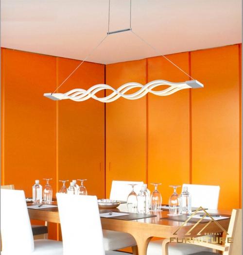 Đèn thả trần bàn ăn lượn sóng 3 chế độ màu DTT-065