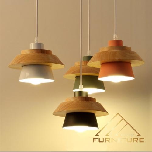 Đèn thả trần bằng gỗ đơn giản 051