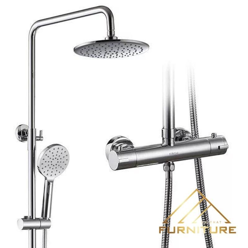 Bộ vòi sen tắm bát tròn hiện đại 012