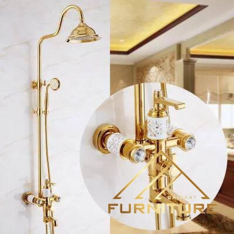 Bộ vòi sen tắm cổ điển phong cách châu Âu 009