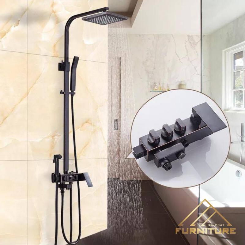Bộ vòi sen tắm đứng tăng áp hiện đại 007