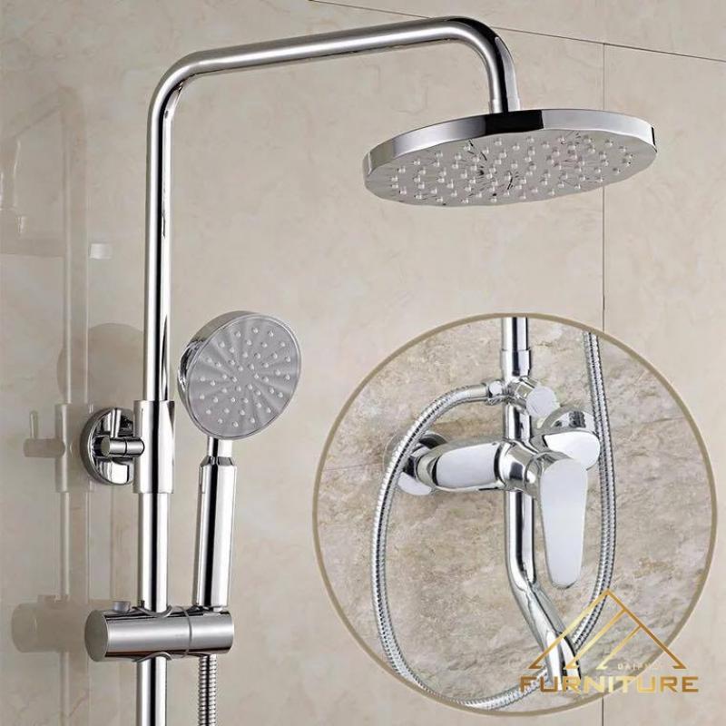 Bộ vòi sen tắm kiểu dáng hình tròn đẹp 010