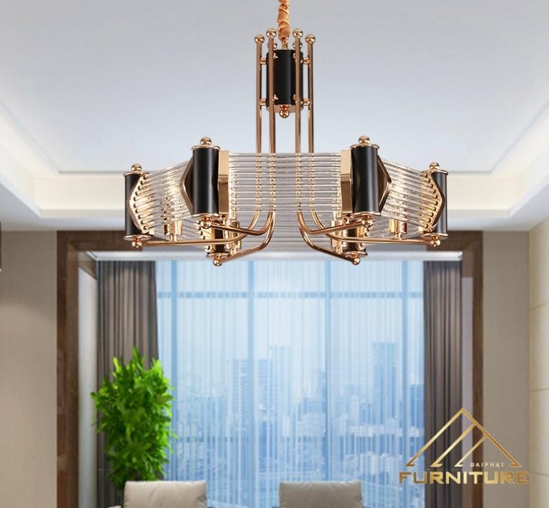 Đèn chùm hiện đại trang trí phòng khách 055