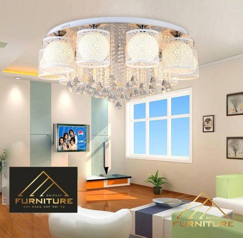 Đèn chùm ốp trần pha lê trang trí phòng khách 024