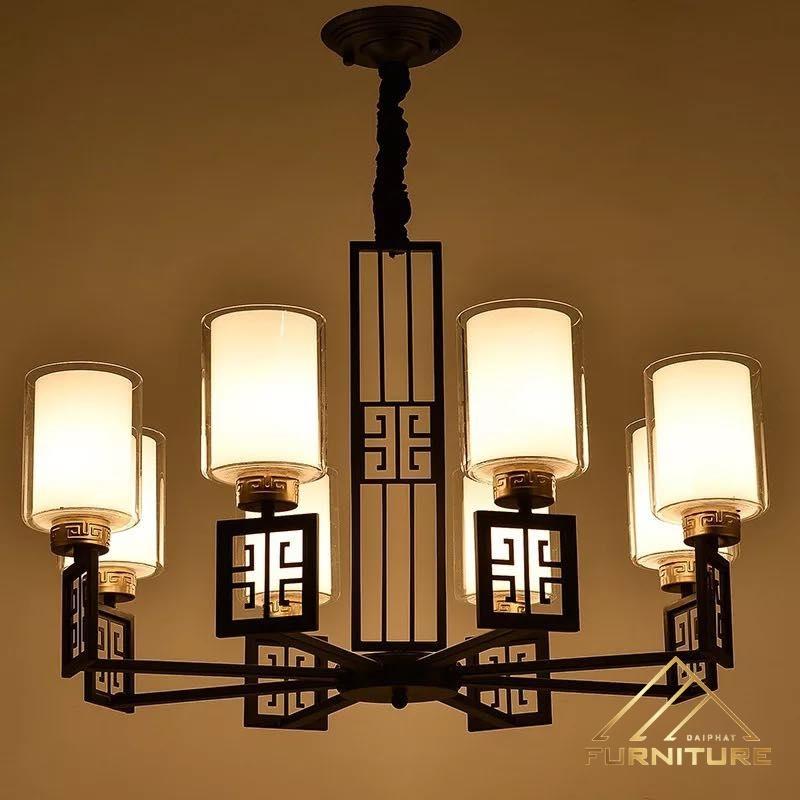Đèn chùm pha lê phong cách châu Á 026
