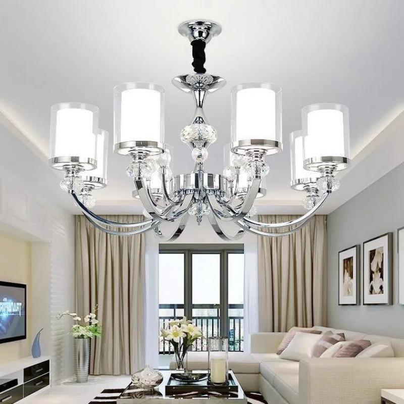 Đèn chùm pha lê treo trần phòng khách 007