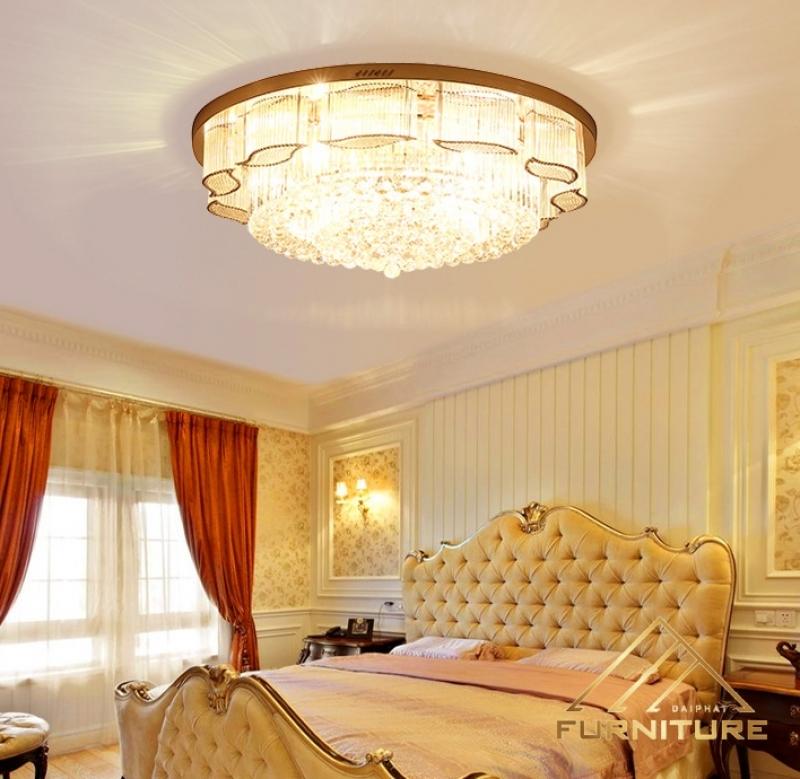 Đèn ốp trần pha lê châu Âu hiện đại cao cấp 063