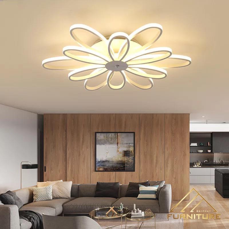 Đèn ốp trần phòng khách kiểu dáng Hoa sang trọng 027