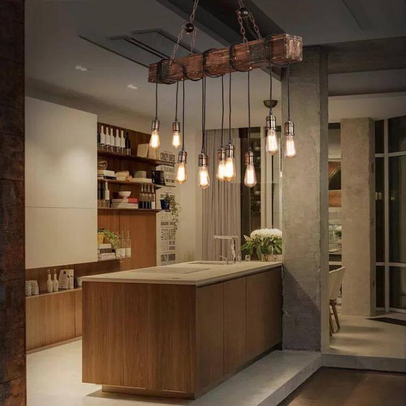 Đèn thả trần bàn ăn thủy tinh mới 026