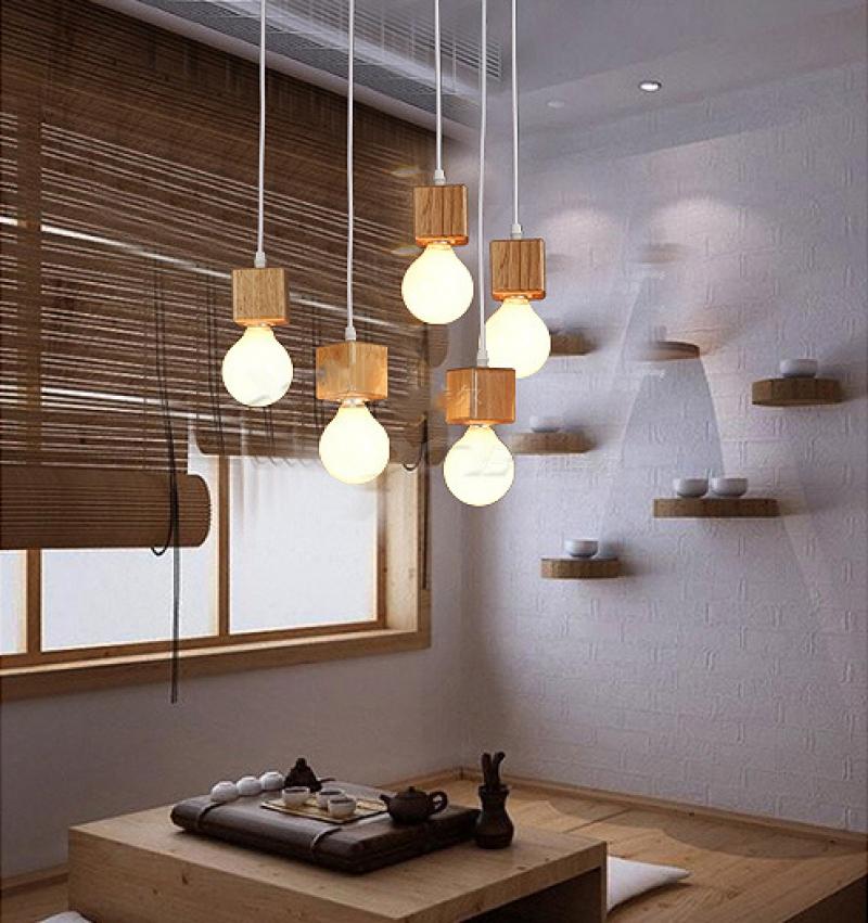 Đèn thả trần bằng gỗ trang trí hiện đại DTT-097