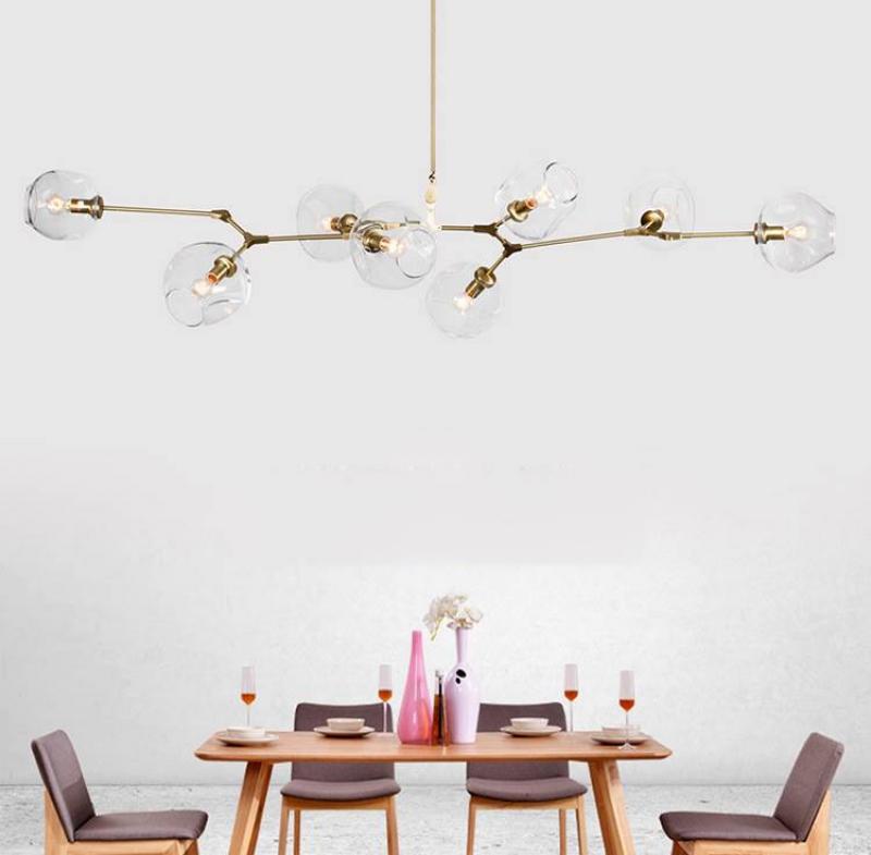 Đèn thả trần bóng Thủy tinh hiện đại 021