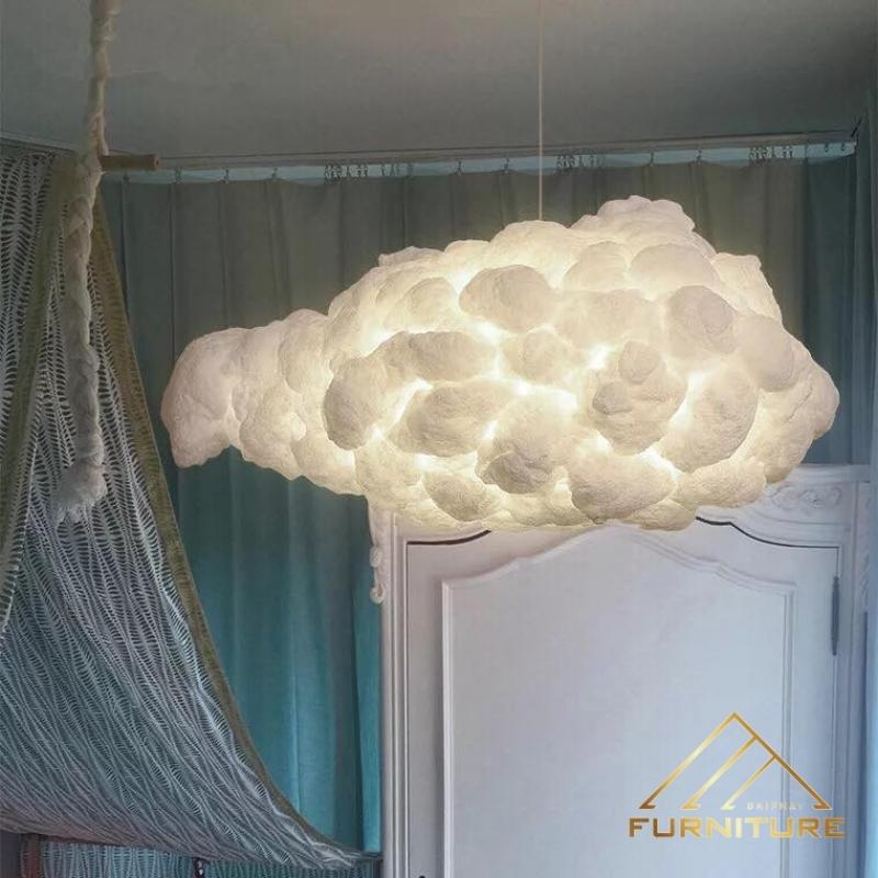 Đèn thả trần phòng khách đám mây hiện đại 033