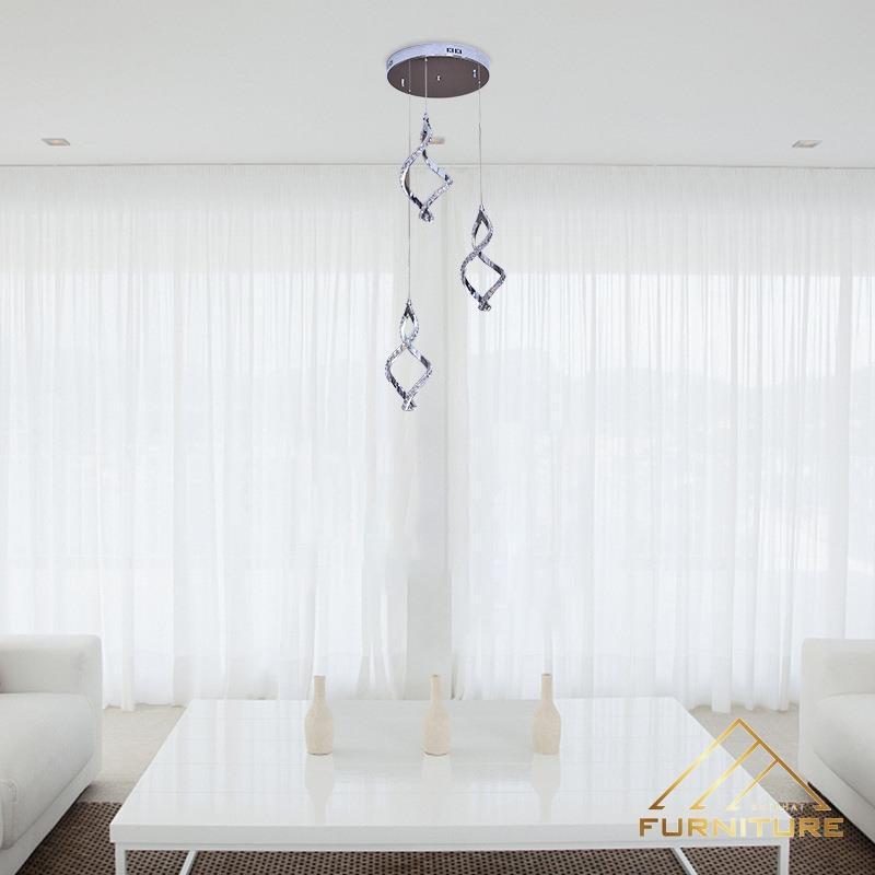 Đèn thả trần phòng khách hình xoắn 031