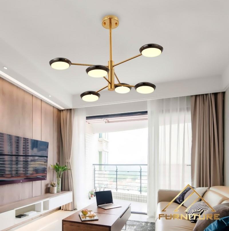 Đèn thả trần phòng khách phong cách châu Âu cao cấp 037
