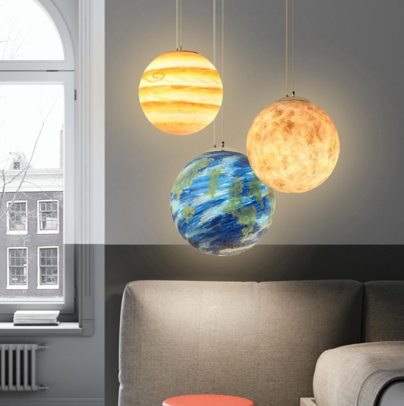 Đèn thả trần Planet độc đáo DTT-074/1 Ø25cm