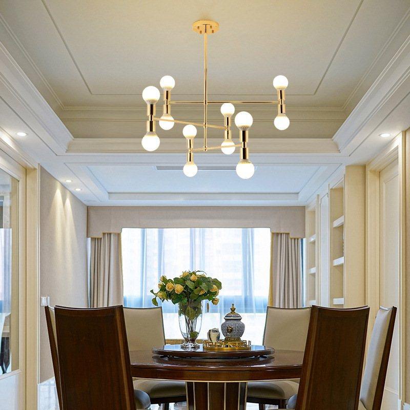 Đèn thả trần phòng khách ánh vàng sang trọng DTT-079 L75cm