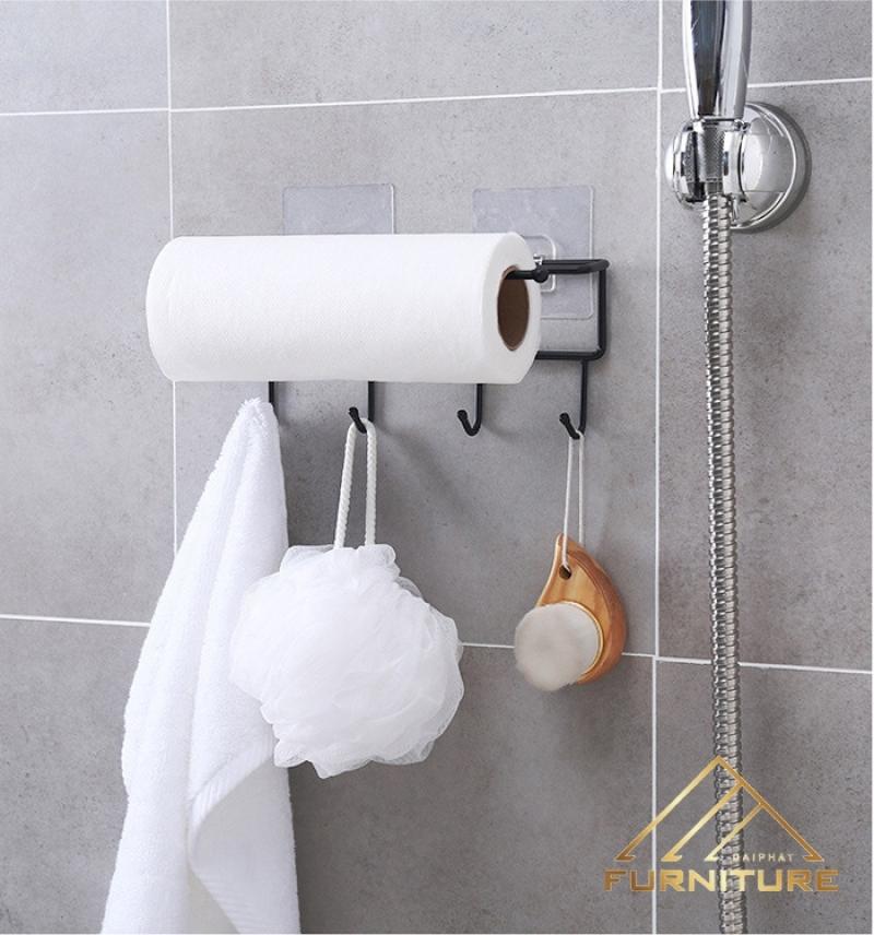 Móc sắt khăn giấy treo nhà tắm 001