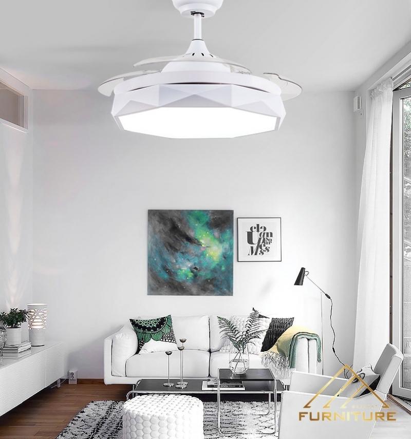 Quạt trần đèn kiểu cách mới hiện đại 023
