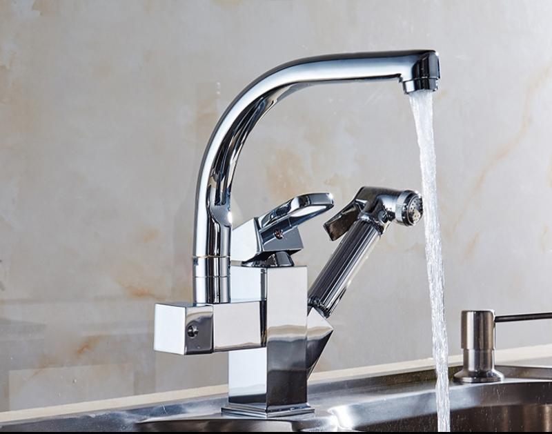 Vòi nước rửa chén SUS 304 nóng lạnh xoay 360 độ 013