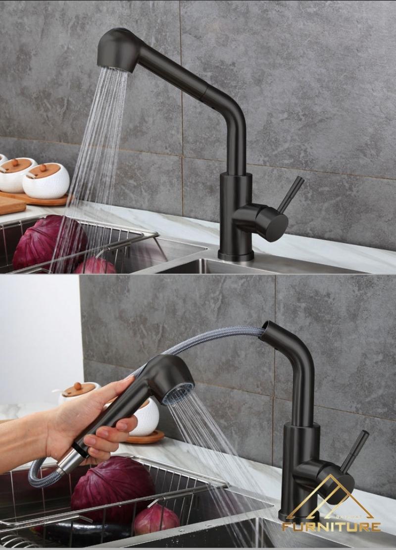 Vòi rửa bát có dây rút tiện ích đến cỡ nào?