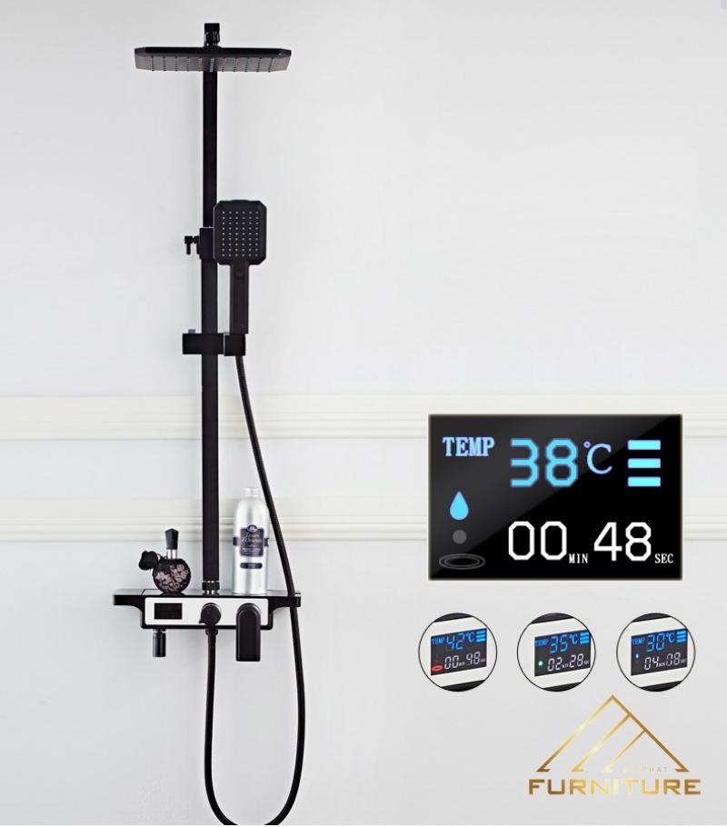 Vòi sen nóng lạnh hiển thị nhiệt độ 071