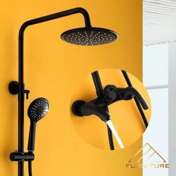 Bộ vòi sen tắm inox sơn Đen nhám 052