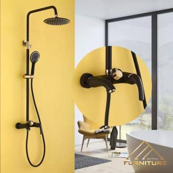 Bộ vòi sen tắm inox sơn Đen nhám mới nhất 053