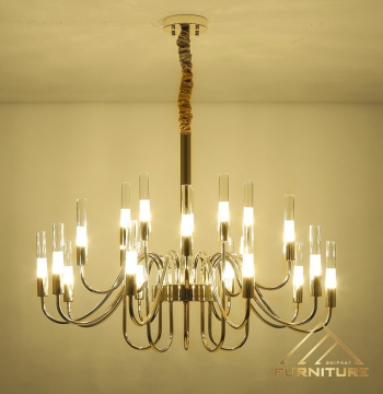 Bán đèn pha lê nến thông tầng ốp trần trang trí phòng khách hiện đại cao cấp giá rẻ tphcm