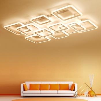 Đèn led ốp trần nhà acrylic hiện đại 068
