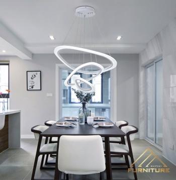 Đèn led thả trần phòng khách hiện đại 057