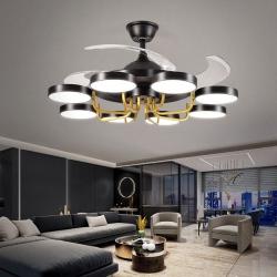 Nơi bán buôn quạt trần có đèn led trang trí phòng khách hiện đại...