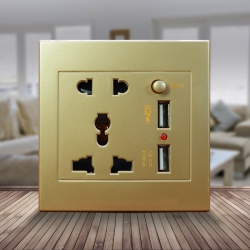 Ổ cắm điện âm tường có công tắc chống giật hiệu quả