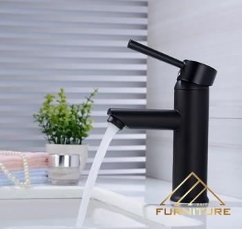 Vòi nước lavabo bằng đồng nóng lạnh sơn tĩnh 017